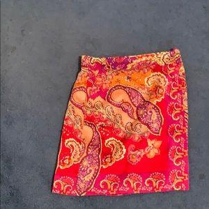 Silk Etcetera wrap skirt
